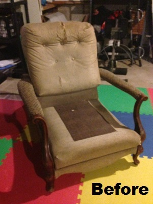 Old Chair Reupholstered