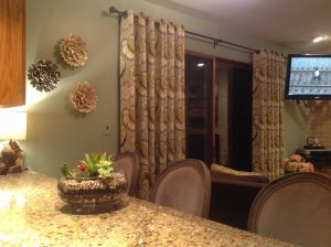 Finished project - Window treatments with grommets