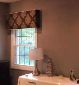 Window cornices made with beautiful fabric for home decor