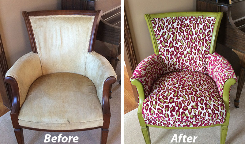 Reupholstered Antique Chair