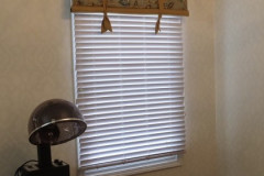 Valance with Blinds in Salon Grand Mere