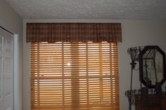 Wooden Blinds and Valance