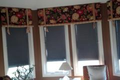 Valance on a Bay Window with Solar Shade