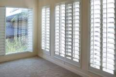 White Plantation Style Shutters