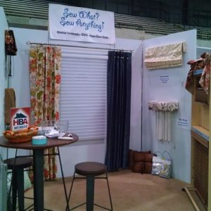 Home and Garden Show booth for Sew What Sew Anything